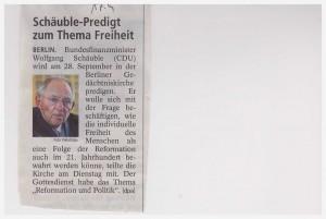 Schäuble und die Freiheit