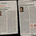 Zwei Kommentare in der CN vom 11.12.2011