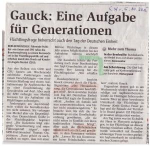 Gauck-Rede zum 3.10.2015