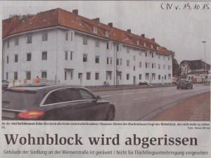 Wohnblock wird abgerissen