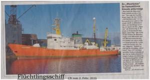 'Flüchtlingsschiff